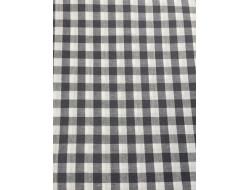 Tissu imprimé - Vichy carreaux gris