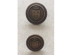 Bouton couture métal bronze 15 et 20 mm