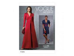 Patron robe - Vogue 1654