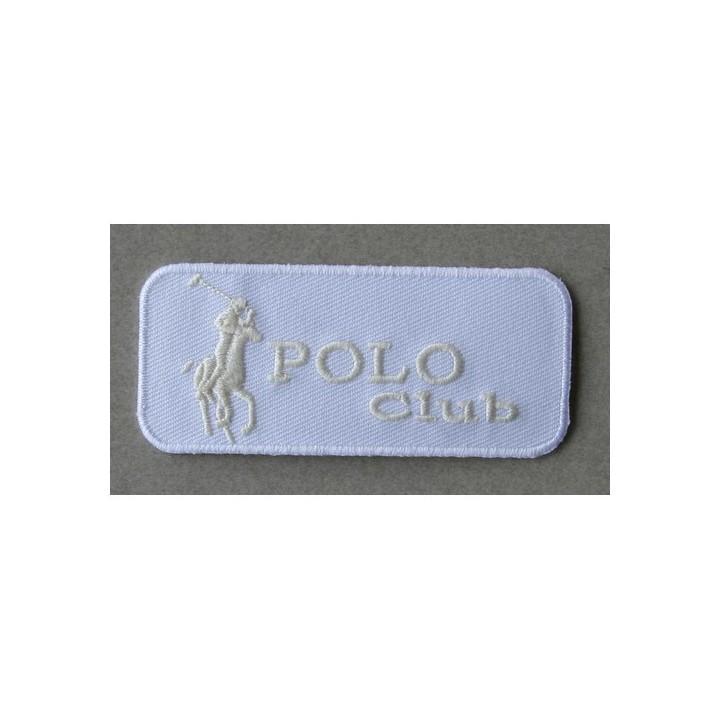 Ecusson thermocollant Polo blanc