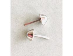 Pied de sac en métal 12 mm - Nickel