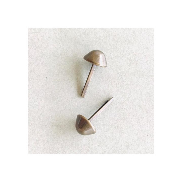 Pied de sac en métal 12 mm - Bronze