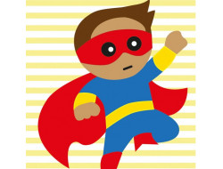 Kit canevas enfants Super Roro