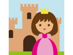 Kit canevas enfants Un jour je serai princesse