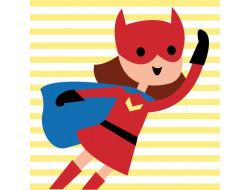 Kit canevas enfants Super Nana