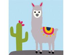 Kit canevas enfants Joshua le lama