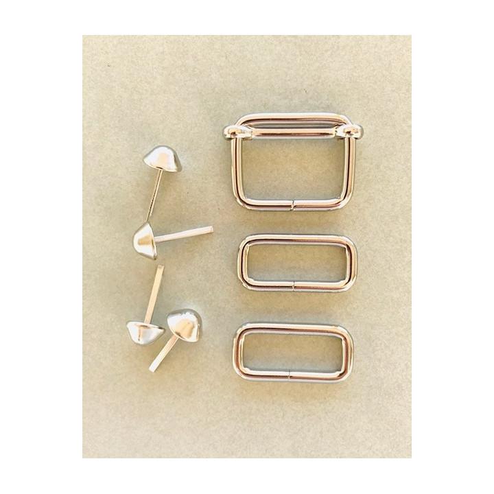 Kit accessoires sac sans mousquetons - 30 mm