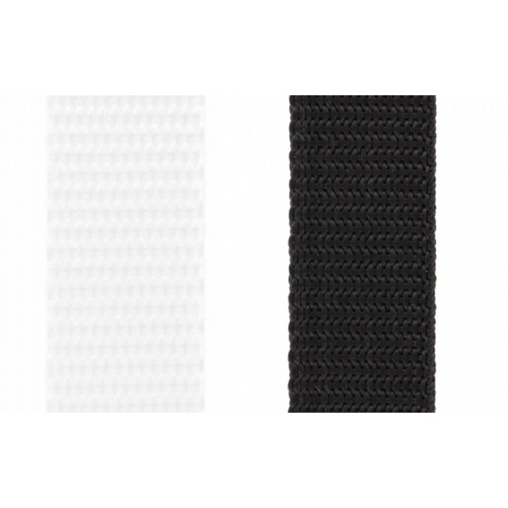 Sangle nylon blanc ou noir 20 mm