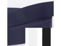 Sangle nylon 25 mm Noir, Marine, Blanc