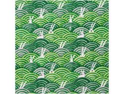 Tissu coton mousseline vert lapin blanc - Rico Design