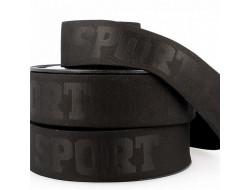 Élastique caleçon 3D Sport Noir - 40 mm