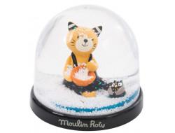"""Boule à neige """"Les moustaches"""" Moulin Roty"""