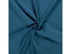 Tissu coton bleu pétrole