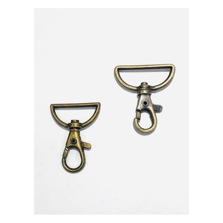 Mousqueton bronze 25 et 32 mm