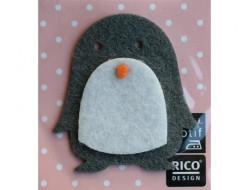 Appliqué thermocollant feutrine pingouin