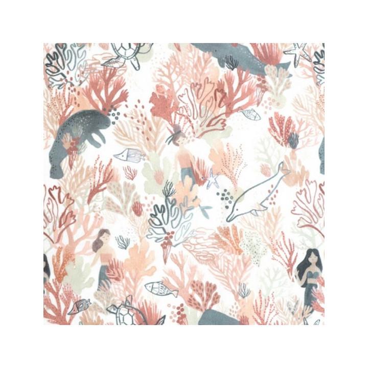 Tissu Coton Waterproof Sea Salgae - Katia Fabrics