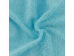 Tissu éponge bambou bio turquoise