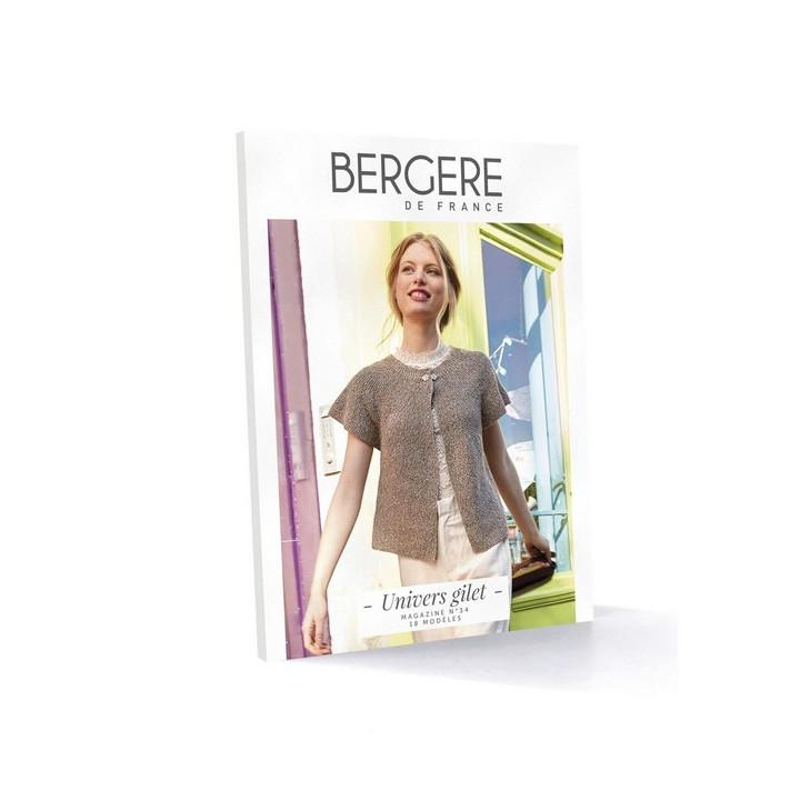 Magazine tricot N°34 Univers gilet - Bergère de France