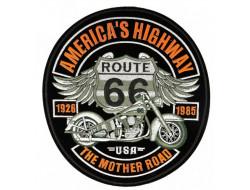 Écusson thermocollant grande taille - Route 66