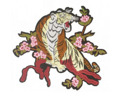 Écusson thermocollant grande taille - Tigre