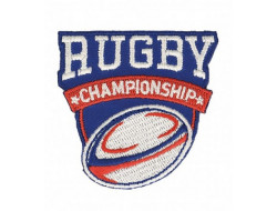 Écusson thermocollant rugby championship