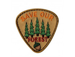 Écusson thermocollant Nature Ecologie Save Our Forest