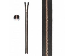 Fermeture satin maille fine métal - Séparable
