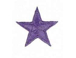 Écusson thermocollant étoile violet métallisé