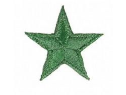 Écusson thermocollant étoile vert métallisé