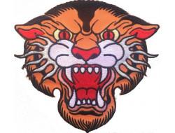 Écusson thermocollant grande taille Tête de tigre