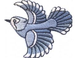 Écusson thermocollant oiseau bleu