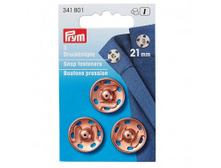 Boutons pression Or rose 21 mm Prym