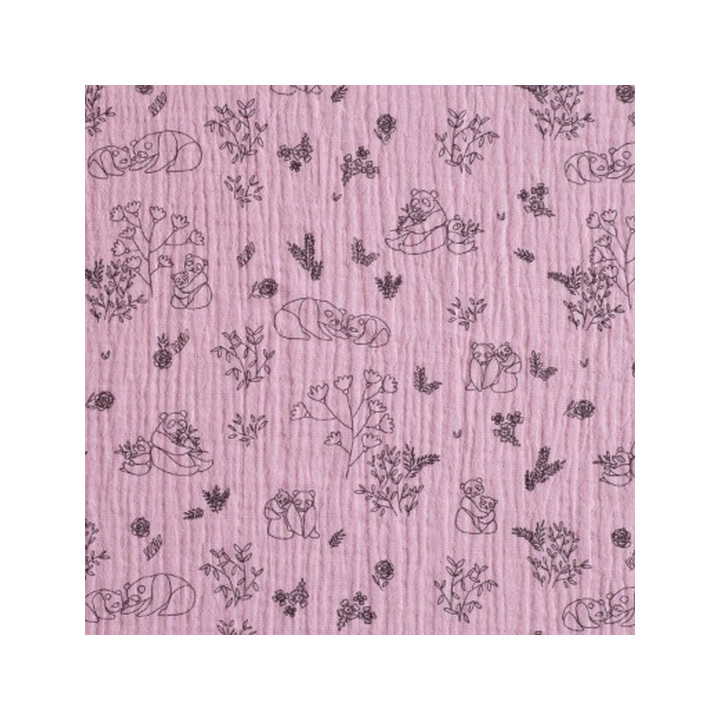 Tissu Mousseline Pandas - Katia Fabrics