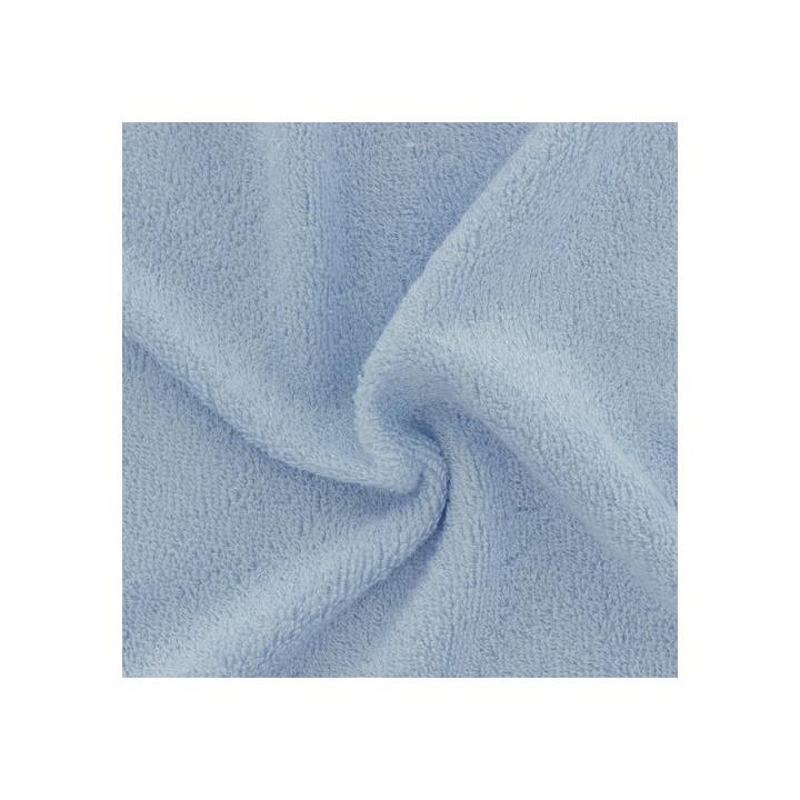 Tissu éponge bambou bio bleu ciel