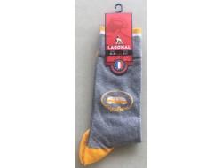 Mi-chaussettes grises Van jaune