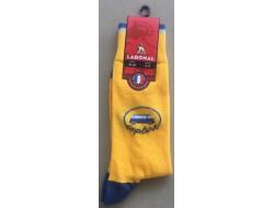 Mi-chaussettes jaunes Van bleu