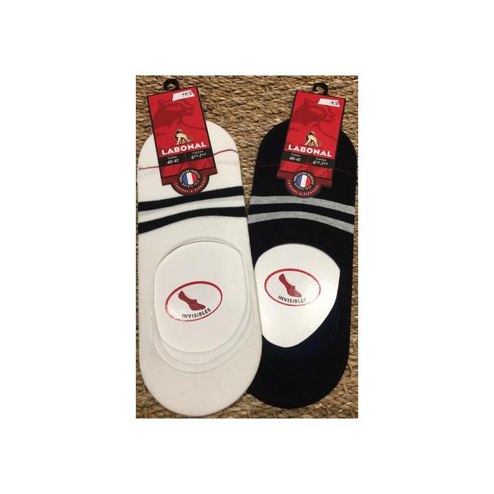 Footlet coton - marin