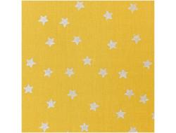 Tissu coton moutarde étoile métall - Rico Design
