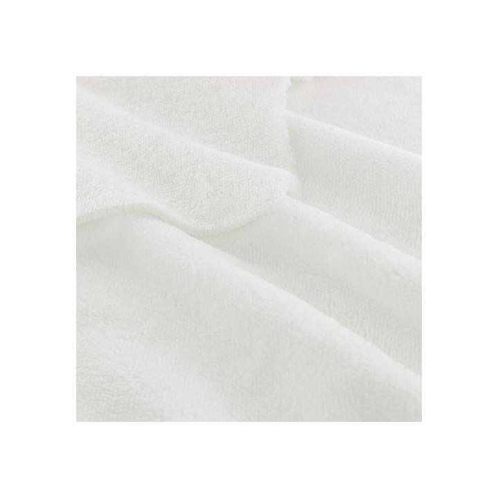Tissu éponge microfibre de bambou blanc