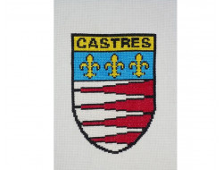 Kit point de croix Blason de Castres