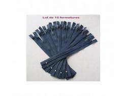 Fermeture à glissière nylon - Lot de 10 Fermetures