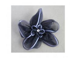 Broche fleur marine en mousseline