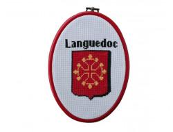 """Kit point de croix Languedoc""""croix Occitane"""""""