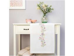 Kit de broderie - Chemin de table couronne de fleurs Rico Design