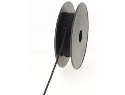 Tresse élastique plate - NOIR
