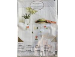 Kit de broderie - Nappe pré-imprimé  fleurs 80x80 cm