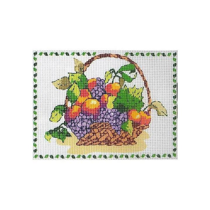 Kit canevas corbeille de fruits