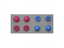 Pressions plastiques couleurs