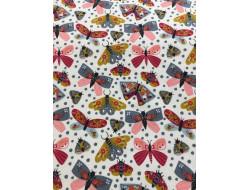 Tissu jersey papillon