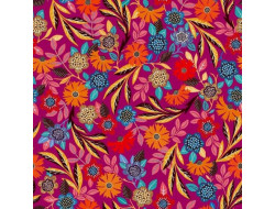 Tissu viscose fleuri Dashwood